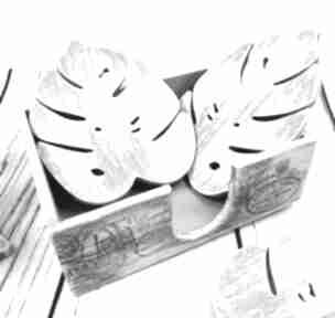 Shirajapodstawki monstera drewno podkładki drewniane