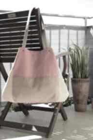Torba worek na ramię happyart torba, shopper, krata, prezent
