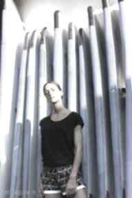 Czarna bawełniana bluzka bluzki manifesto art bluzka, czarna