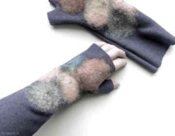 Mitenki szafir rękawiczki meganaart mitenki, bez palców