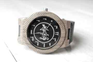 Drewniany zegarek music eagle owl zegarki ekocraft dębowy