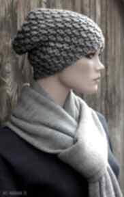 Czapka handmade nr 22 czapki hermina zimowa, wełniana czapka