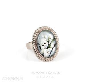 Pierścionek - błękitne niebo kolor złoty liliarts pierścionek