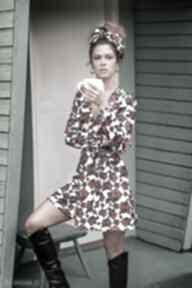 Ross mini - koperowa sukienka sukienki milita nikonorov mini