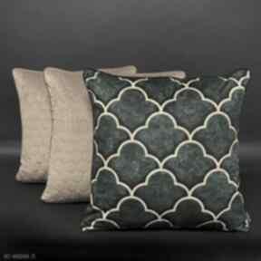 poduszki! komplet-poduszek zestaw-poduszek welur koniczyna