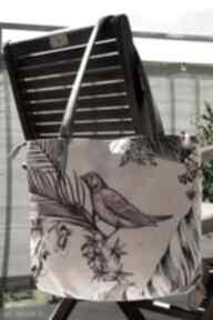 Torba worek na ramię - koliber happyart torba, hobo, ptaszek