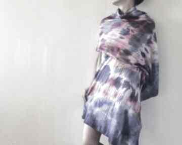 Szal wełniany ręcznie barwiony szaliki anna damzyn szal