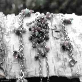 Komplet - zoisyt z rubinem onyksela zoisyt, rubin, grona