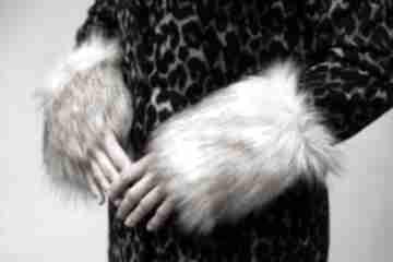 Mankiety z futra naturalne rękawiczki gofashion na prezent