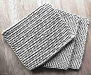 Zestaw 3 podkładek ze sznurka bawełnianego podkładki wholewool