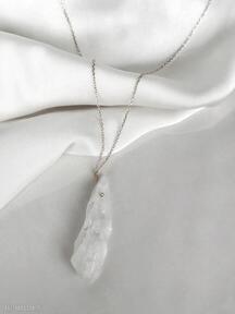 Naszyjnik - kwarc biały naszyjniki in stones kwarc, kwarce