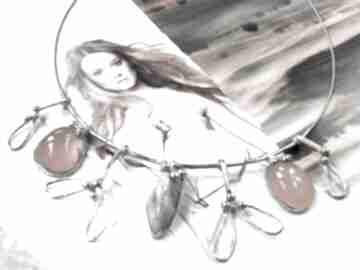 Naszyjnik jemioła: kwamaryn karneol naszyjniki witrazka