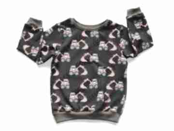 Brązowa bluza z korapkami, bawełniana dla chłopca, rozmiary 68
