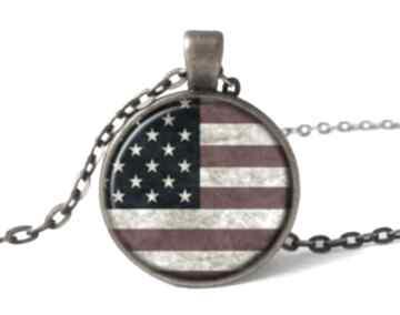 Flaga usa medalion łańcuszkiem amerykańska dziewczyny prezent