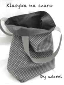 Lunchbag by wkml klasyka na szaro torebki bywkml śniadaniówka