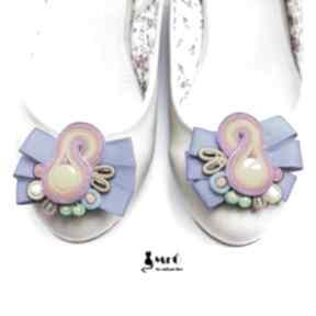 Klipsy do butów - bajkowe ozdoby mrosoutache sutasz, soutache