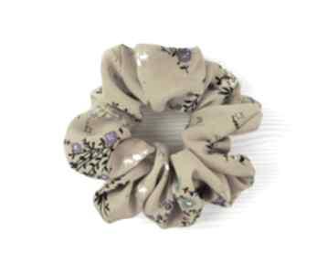 Gumka scrunchie musztardowa pin up ozdoby do włosów luci and