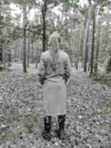 Płaszcz damski szary materiał z domieszką wełny, rozmiar m