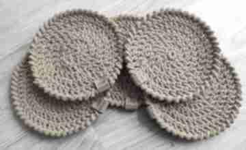 Zestaw 5 podkładek ze sznurka bawełnianego podkładki wholewool