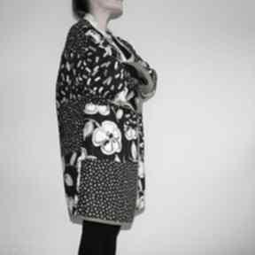 Płaszcz patchworkowy długi - waciak płaszcze patchworkart
