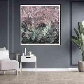Nowoczesny obraz 70x70 byferens kolorowy obraz, sztuka