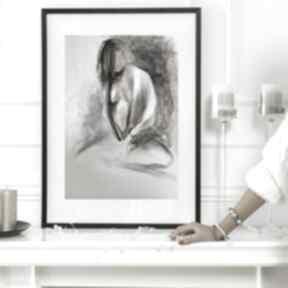 Szkic kobiety a3 dom galeria alina louka obraz do salonu