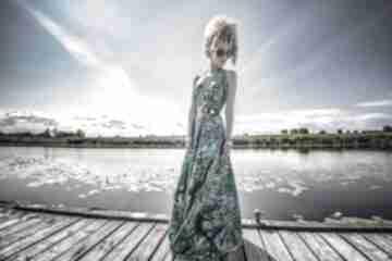 Paloma - letnia suknia sukienki milita nikonorov barwna, długa,