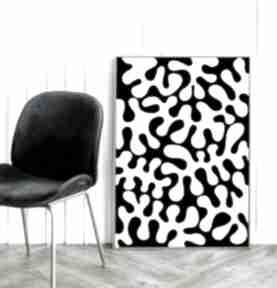Czarno-biała abstrakcja - plakat 40x50 cm plakaty hogstudio