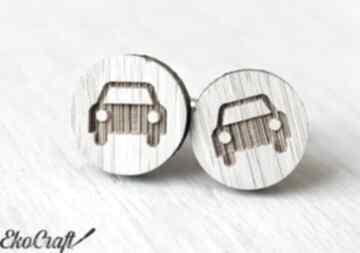 Spinki do mankietów auto ekocraft drewniane, spinki, mankietów