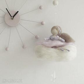 Mobil różowa wróżka chmurce waldorf lalka filc karuzela handmade