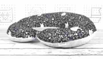 Duża poduszka do karmienia śpiący lisek - granat dla dziecka