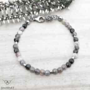 Turmaliny splecione - bransoletka jewelsbykt srebrna biżuteria