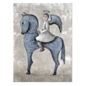 Anioł augur, z cyklu jeźdźcy anty-apokalipsy oryginalny obraz