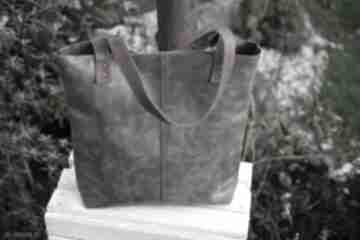 Miejska torba skóra crazy horse na ramię juti bags duża vintage