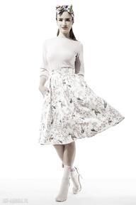 Spódnica amore spódnice kasia miciak design spódnica, ptaszki