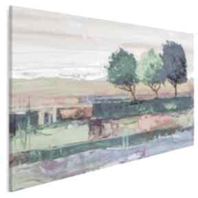 Obraz na płótnie - drzewa pejzaż kolorowy 120x80 cm 99601 vaku