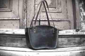 Piękna torba w kolorze granatowym kuferek wykonany ręcznie przez
