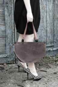 Elegancka skórzana asymetryczna torebka na ramię navahoclothing