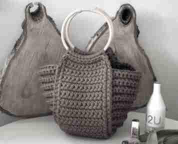 Torba damska koszyk na szydełku handmade fabryqaprzytulanek