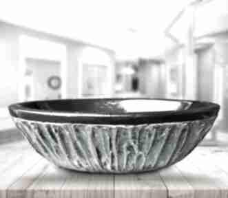 Majestic - artystyczna umywalka nablatowa ze złotą strukturą dom