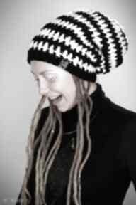 Czapka dreadlove dual - czarny biały czapki laczapakabra rasta