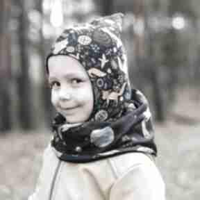 Kominiarka czapka-skrzata rudy lisek mamaiti dla dzieci, czapka