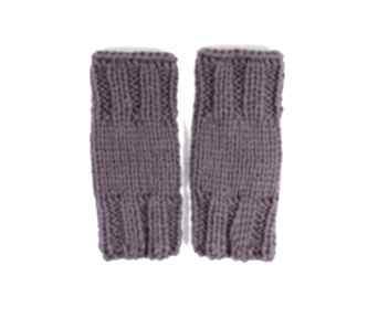 Mitenki krótkie wrzosowe rękawiczki rekaproduction mitenki