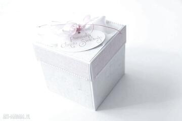 Pudełko - niespodzianka dla dziewczynki na chrzest scrapbooking