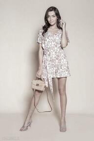 Krótki kombinezon - kb120 różowy wzór ubrania lanti urban