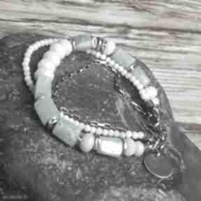 Bransoletka srebrna z amazonitami treendy amazonit srebro