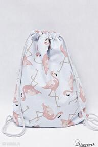 Worek plecak flamingi uszyciuch worek, plecak, torba, worko