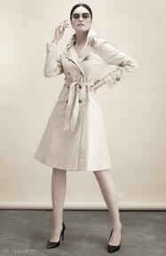 Klasyczny bawełniany trencz płaszcze kasia miciak design