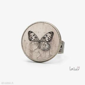 Pierścionek butterfly laluv motyl, grafika, prezent, owad,