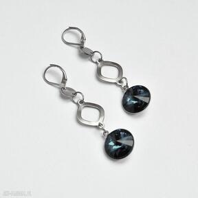 Kolczyki ze stali szlachetnej 316l z kryształami rivoli langner